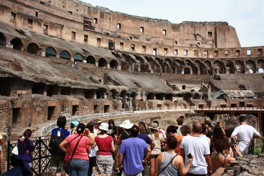 Información sobre el Coliseo en Roma en Italia