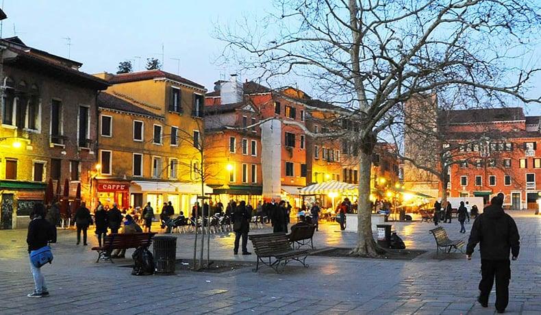 Región de Dorsoduro en Venecia