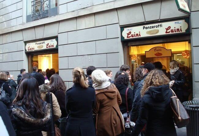 Panzerotti en el Luini de Milán