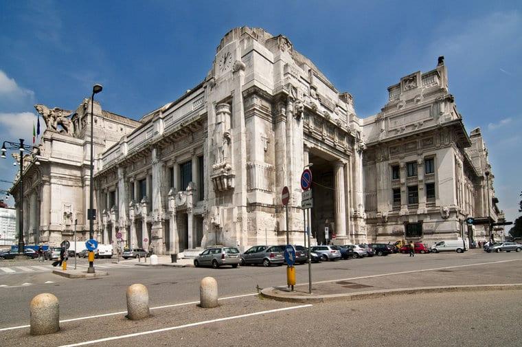 Estación central en Milán