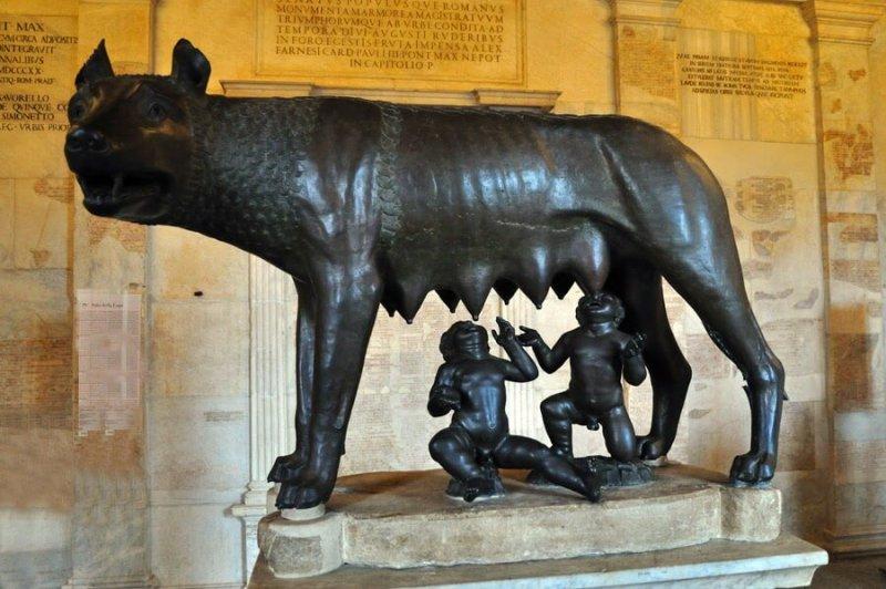 OObra expuesta en el Palacio de los Conservadores, que forma parte de los Museos Capitolinos de Roma