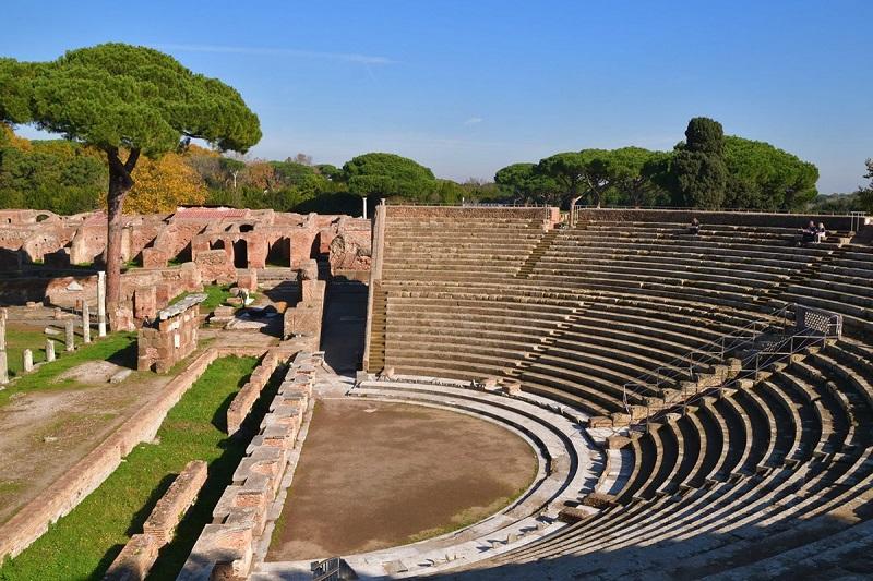 Anfiteatro de Ostia Antica en Roma
