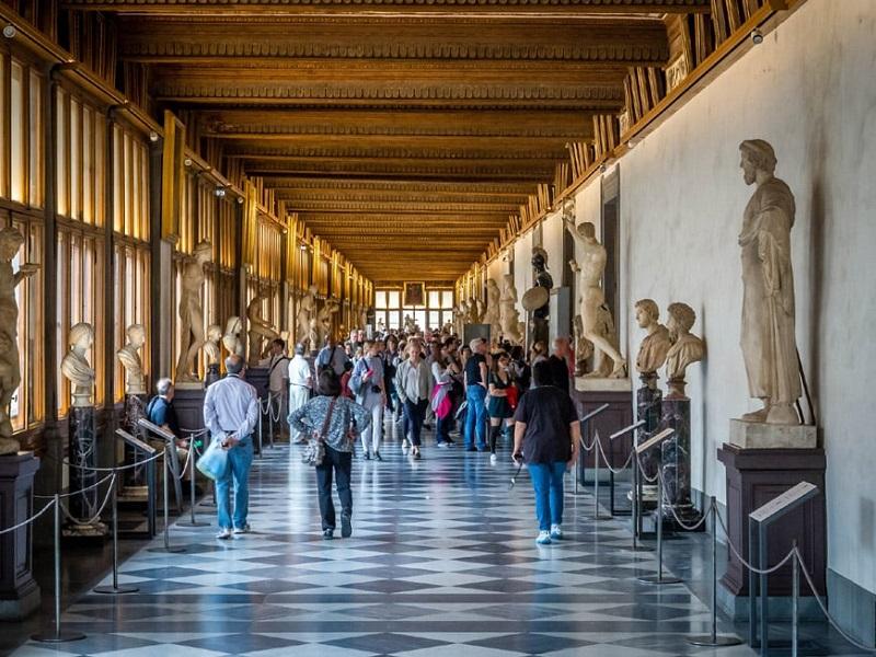 Galería de los Uffizi en Florencia