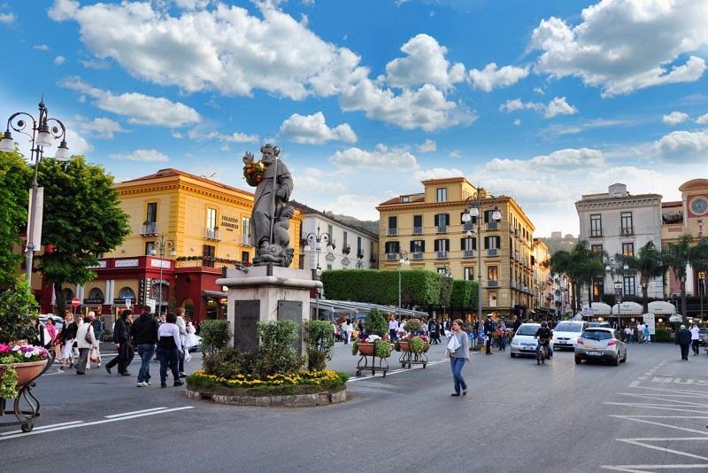 Piazza Tasso en Sorrento
