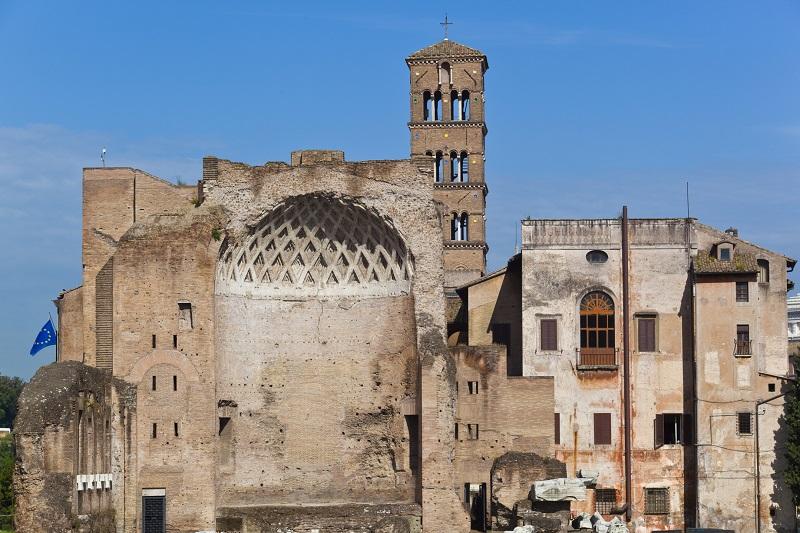 Ruinas en el Palatino en Roma