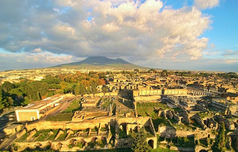 Vista de Pompeya